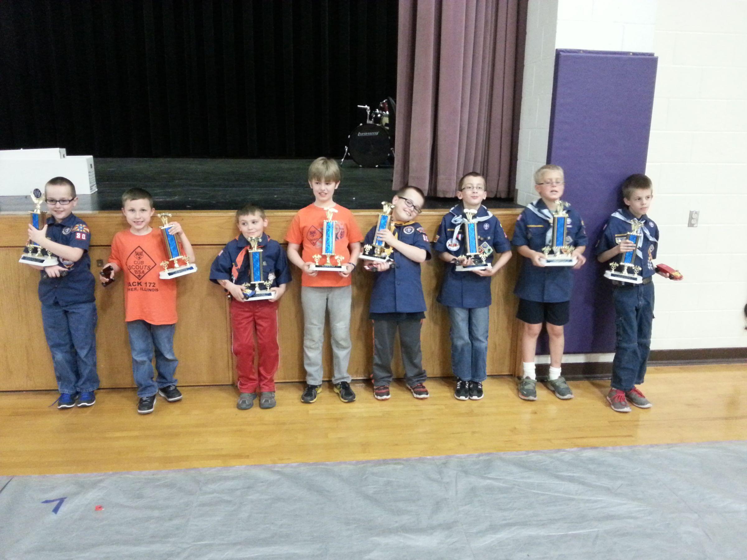 Prairielands Council Pinewood Derby race winners