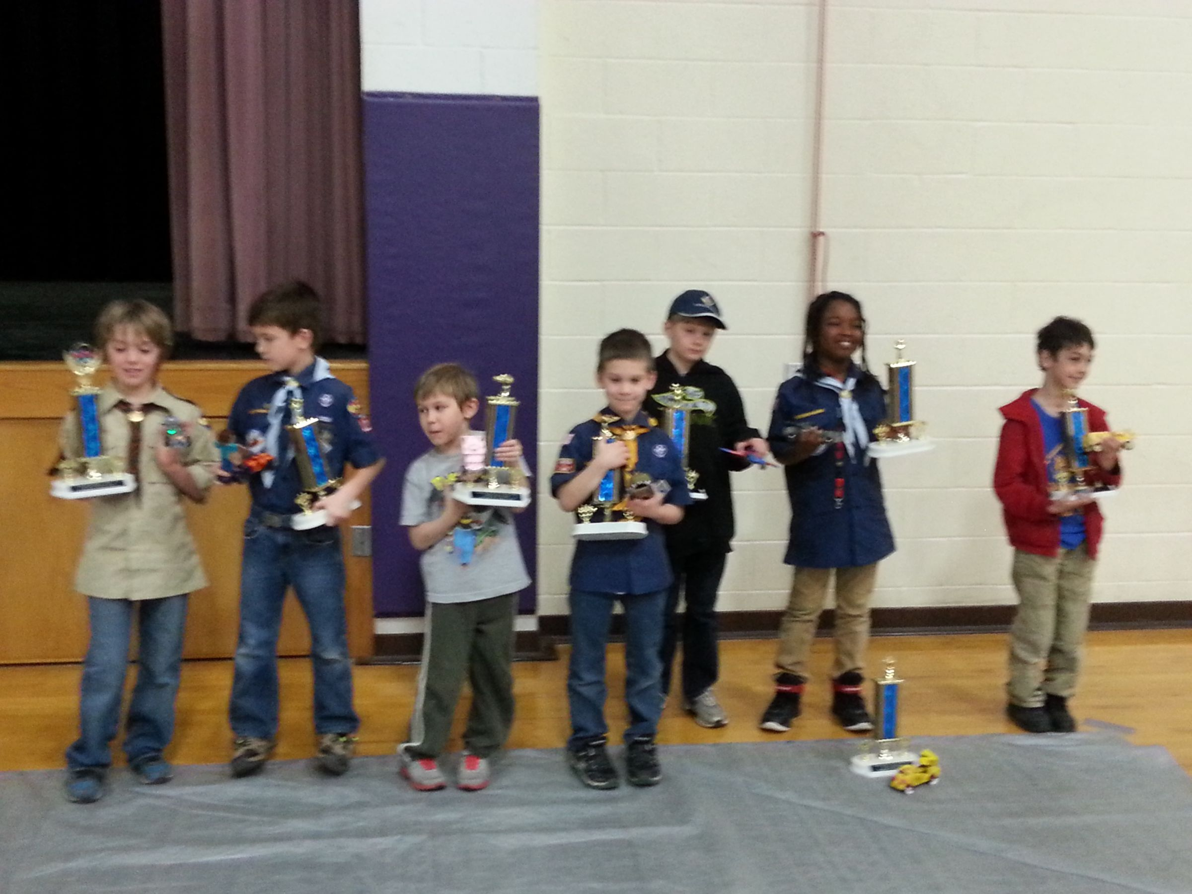Prairielands Council Pinewood Derby show winners